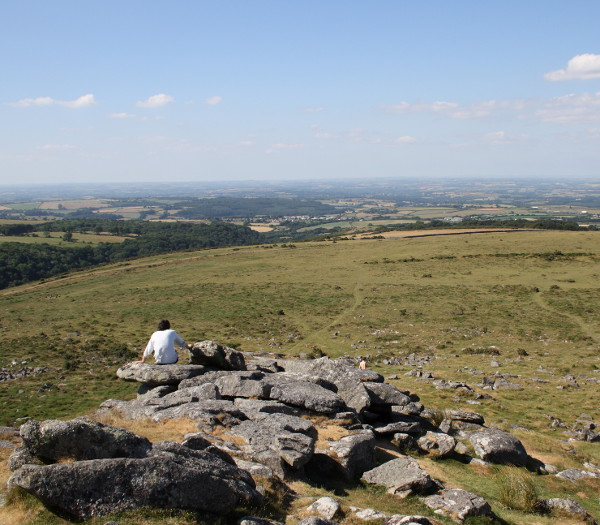 view to the north from Belstone Tor