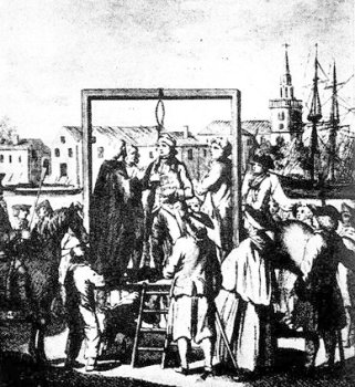 Public hanging at Execution Dock in Wapping