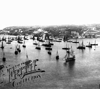 Brixham fishing fleet in 1896
