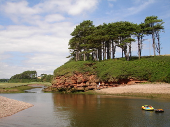 River Otter estuary at Budleigh Salterton