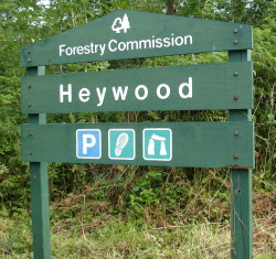 Heywood Forestry Commission sign