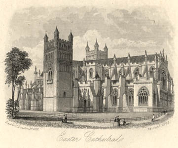 north side of Exeter Cathedral