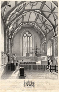 Interior of Exeter Guildhall in 1839