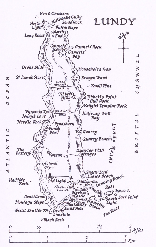 Map of Lundy   ©Lundy Field Society