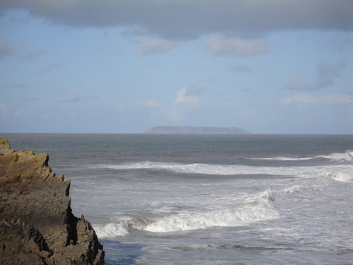 Lundy seen from near Hartland Point