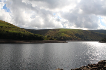 Meldon reservoir looking south