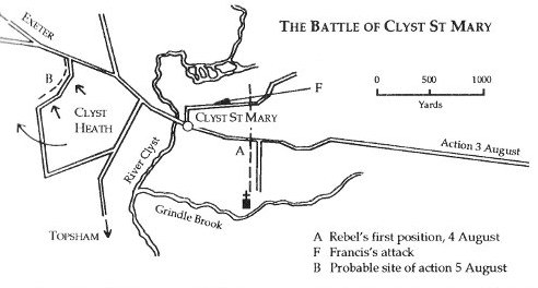 Battle of Clyst St Mary, August 4-5, 1549