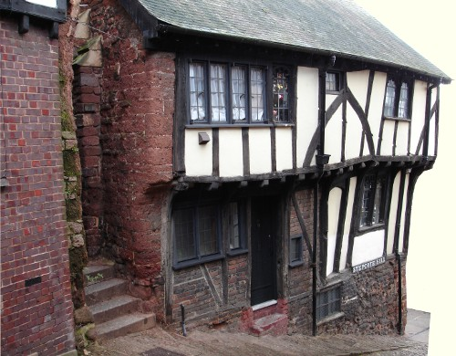 15th C. house on Stepcote Hill, Exeter