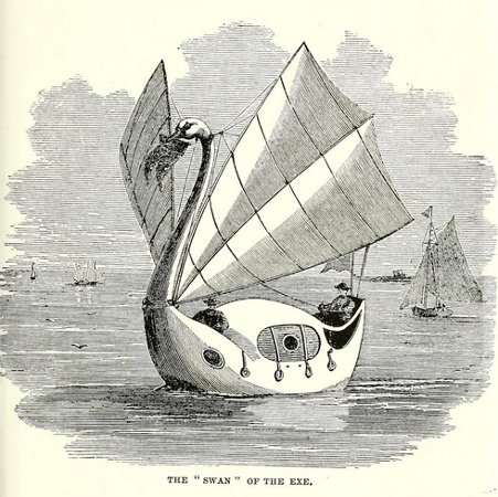 An engraving of 'The Swan of the Exe' from the Illustrated London News, October 30th, 1860