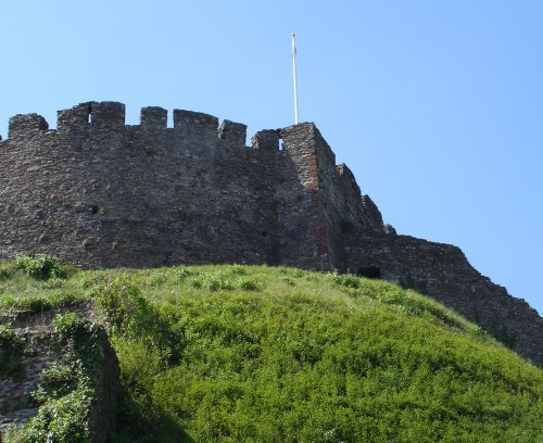 Totnes Castle, as seen from Castle Street