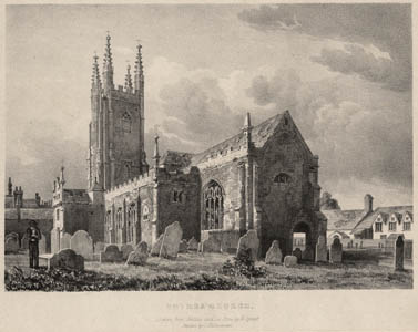 St Mary's Church as depicted in 1842